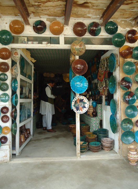 Pottery store in Istalif, Afghanistan