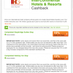 Intercontinental TopCashBack Offer Ends Early