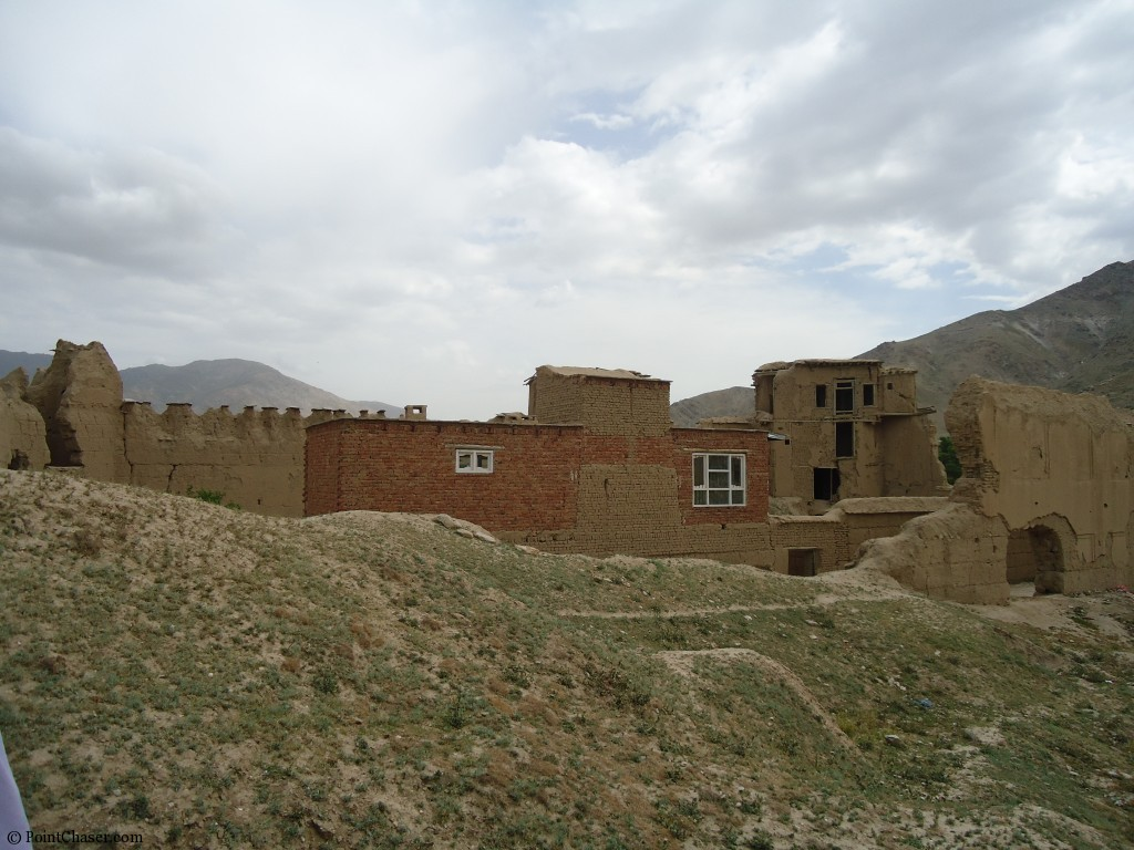 Rebuilt portion of fortress in Arghandeh