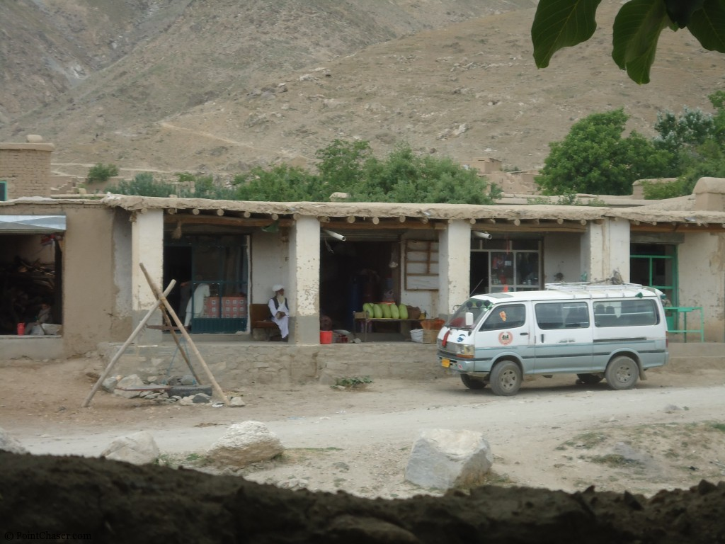 Shops across from the fortress of arghandeh afghanistan