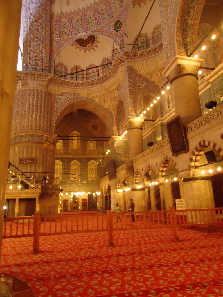 Blue Mosque Sultanahmed Istanbul prayer area