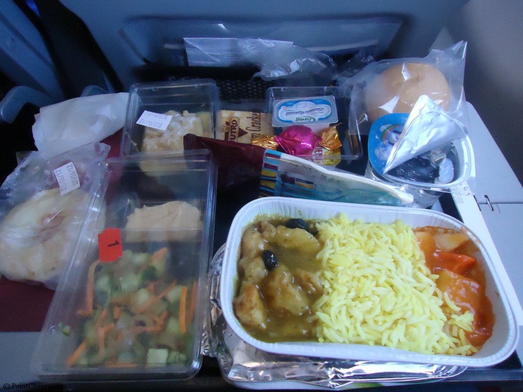 Qatar Airways Economy meal