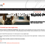 Club Carlson's 10,000 Point Promo Goes Live