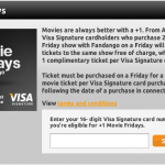 Free Movie Tickets for Visa Signature Cardholders!
