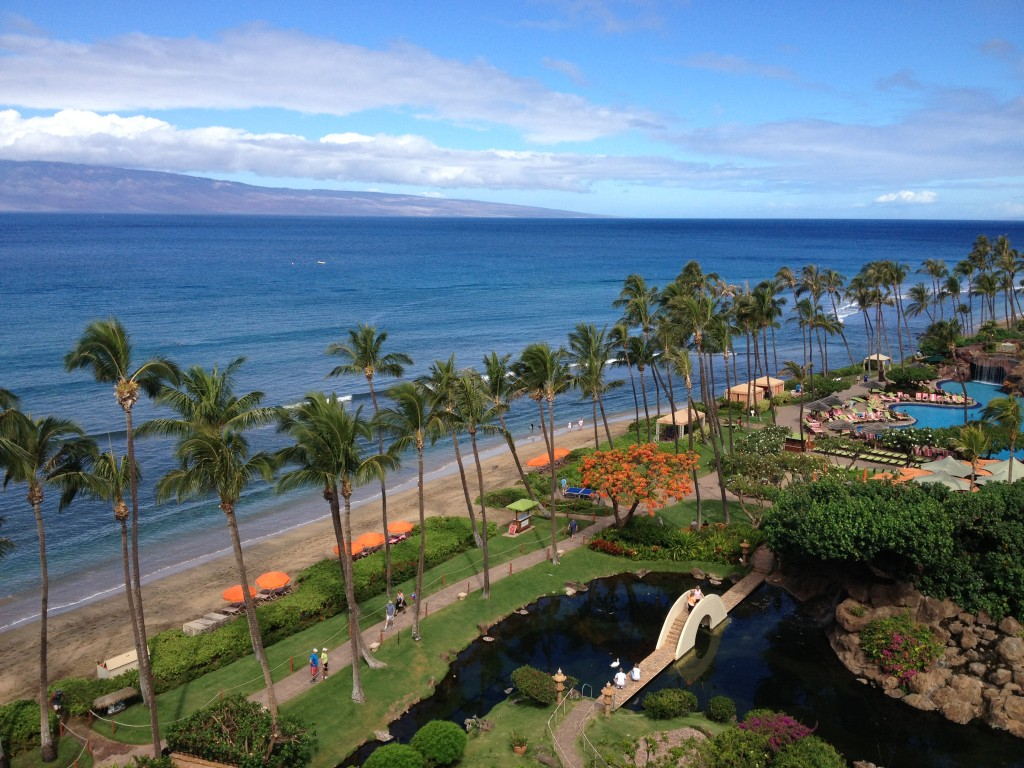 Hyatt Regency Maui Beachside Chairs and Cabanas