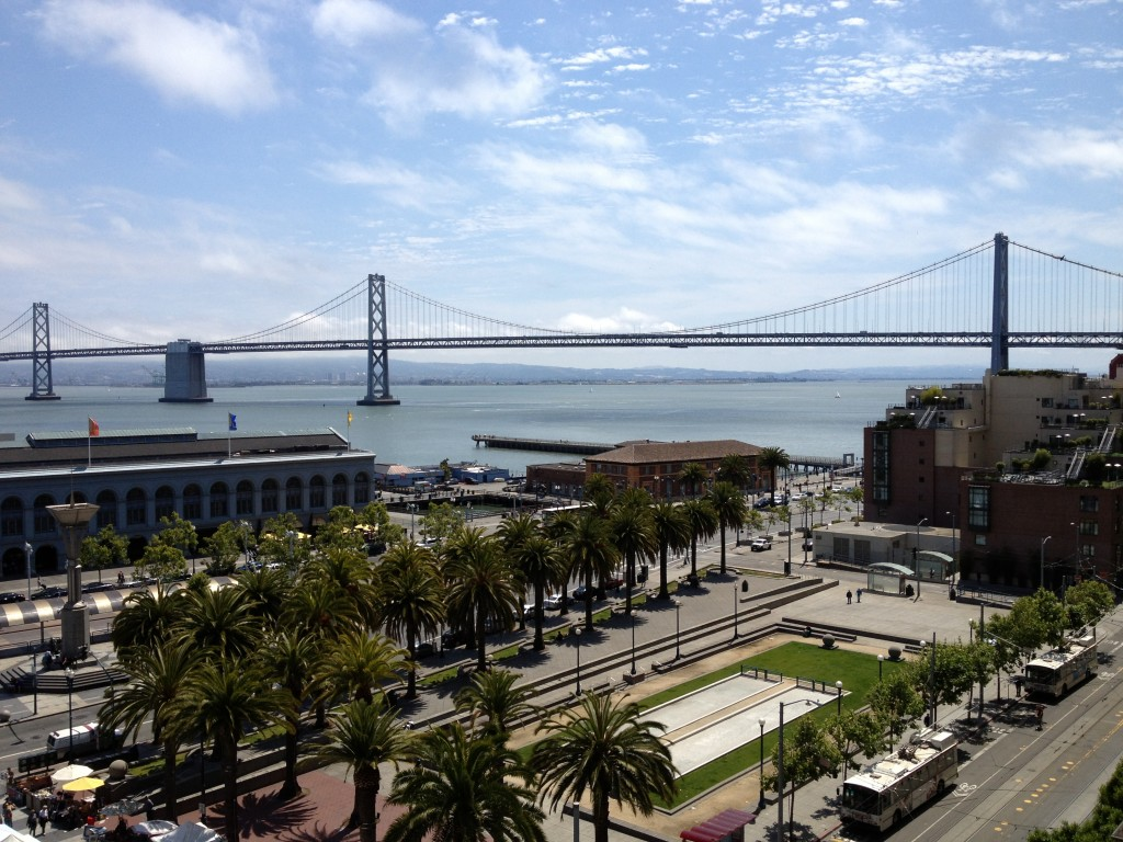 View from the Embarcadero Suite Hyatt Regency San Francisco