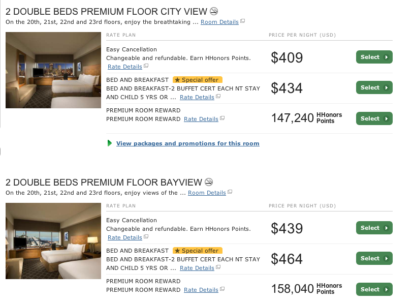 The actual nightly rate? $409 per night!