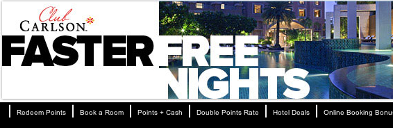 Club Carlson Faster Free Nights: Double Elite Night Promotion