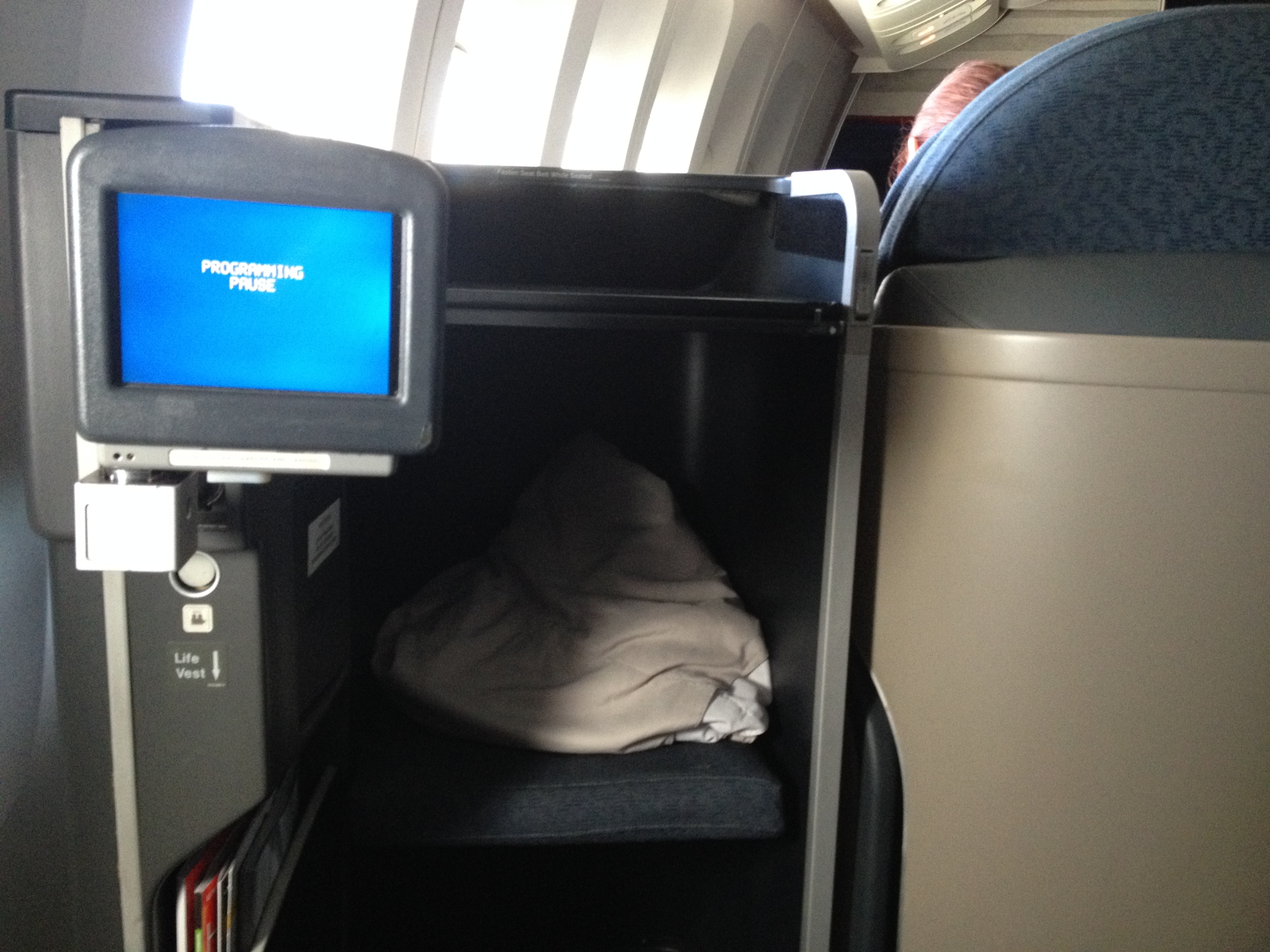 United Airlines 777 First Class Seat San Francisco Honolulu