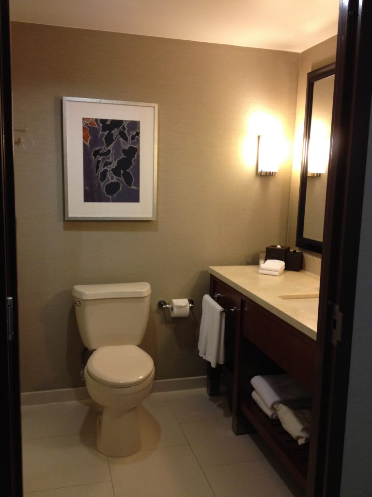 Renovated bathrooms at Hyatt Regency Sacramento Capitol Park