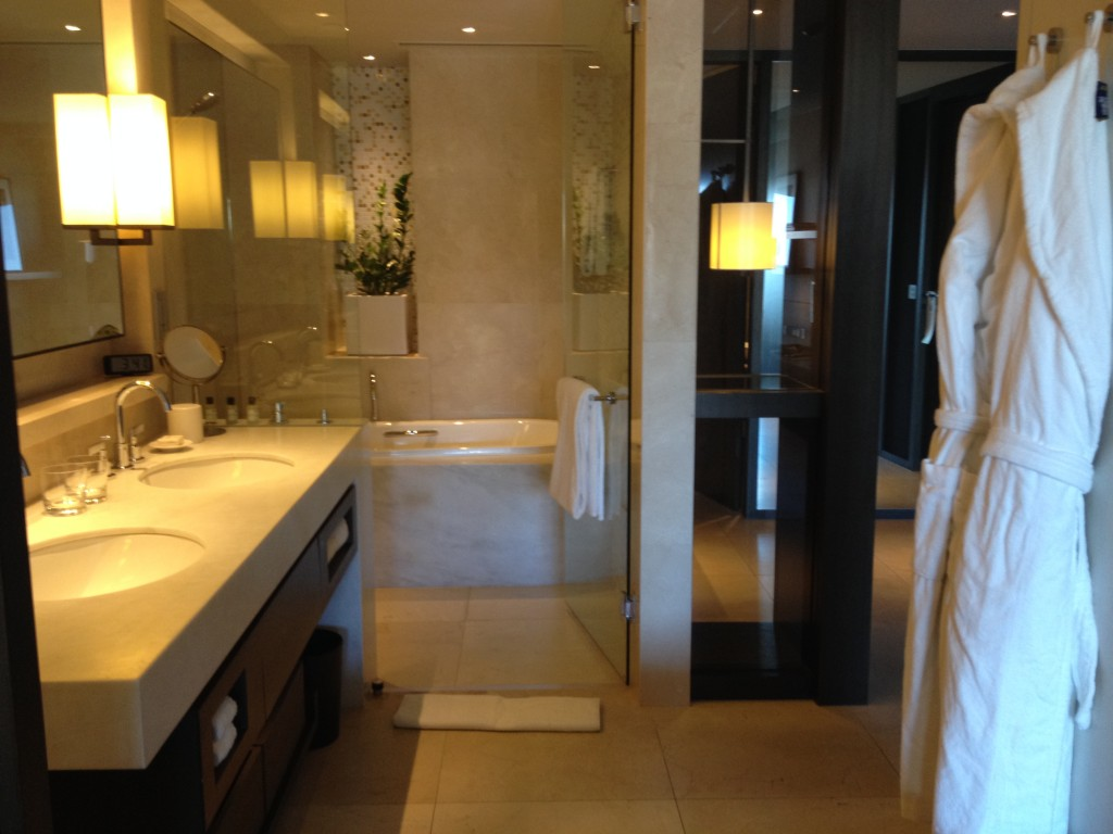 Park Hyatt Sydney Opera King Room Bathroom Shower and Tub