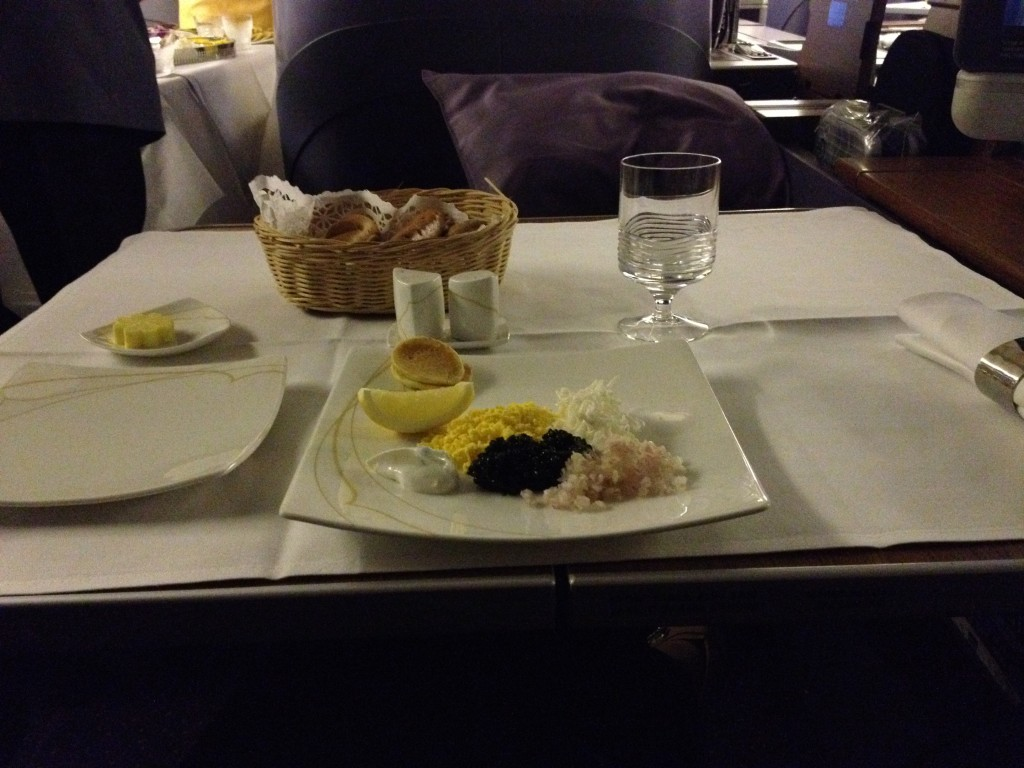 Thai Airways First Class Caviar 747 Bangkok to Sydney