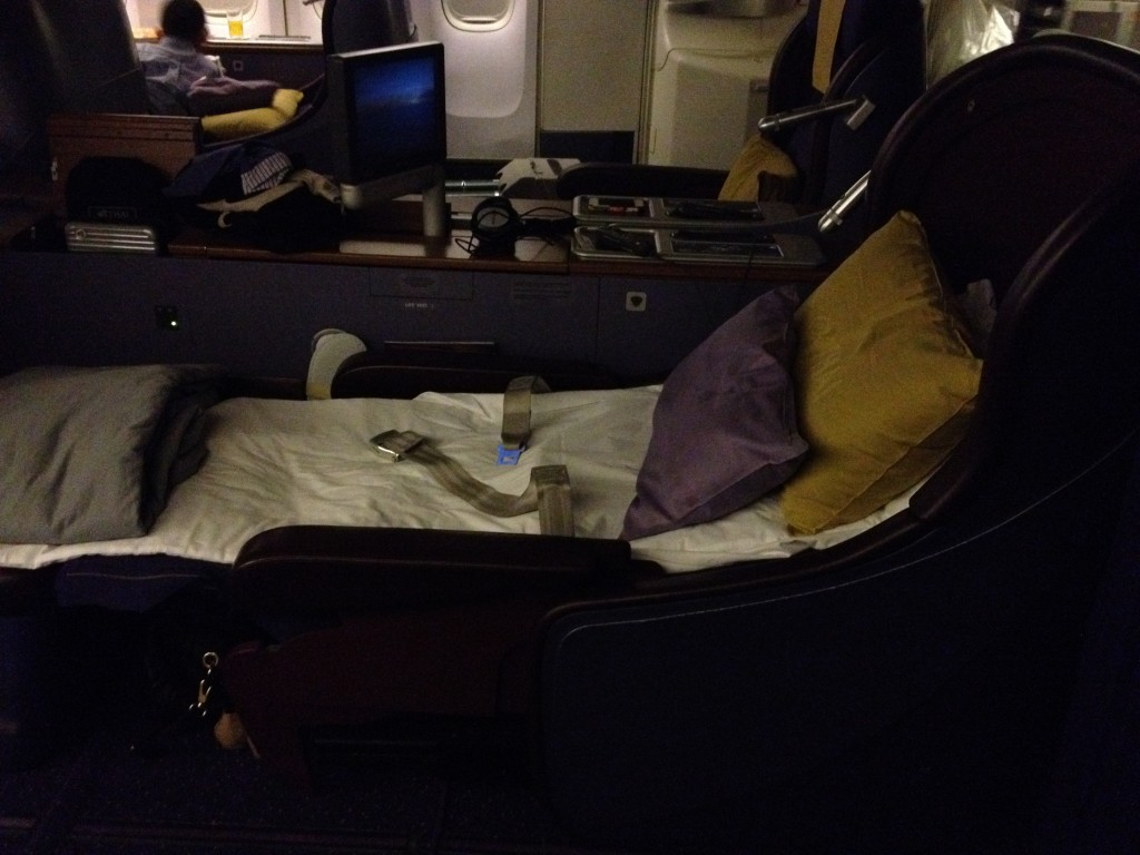 Thai Airways Royal First Class 747 Turndown Service