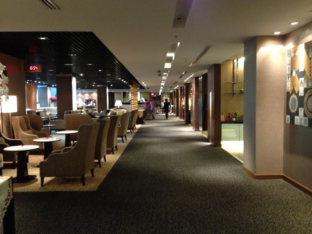 Empty Thai Airways Royal First Class Lounge Bangkok Suvarnabhumi Airport