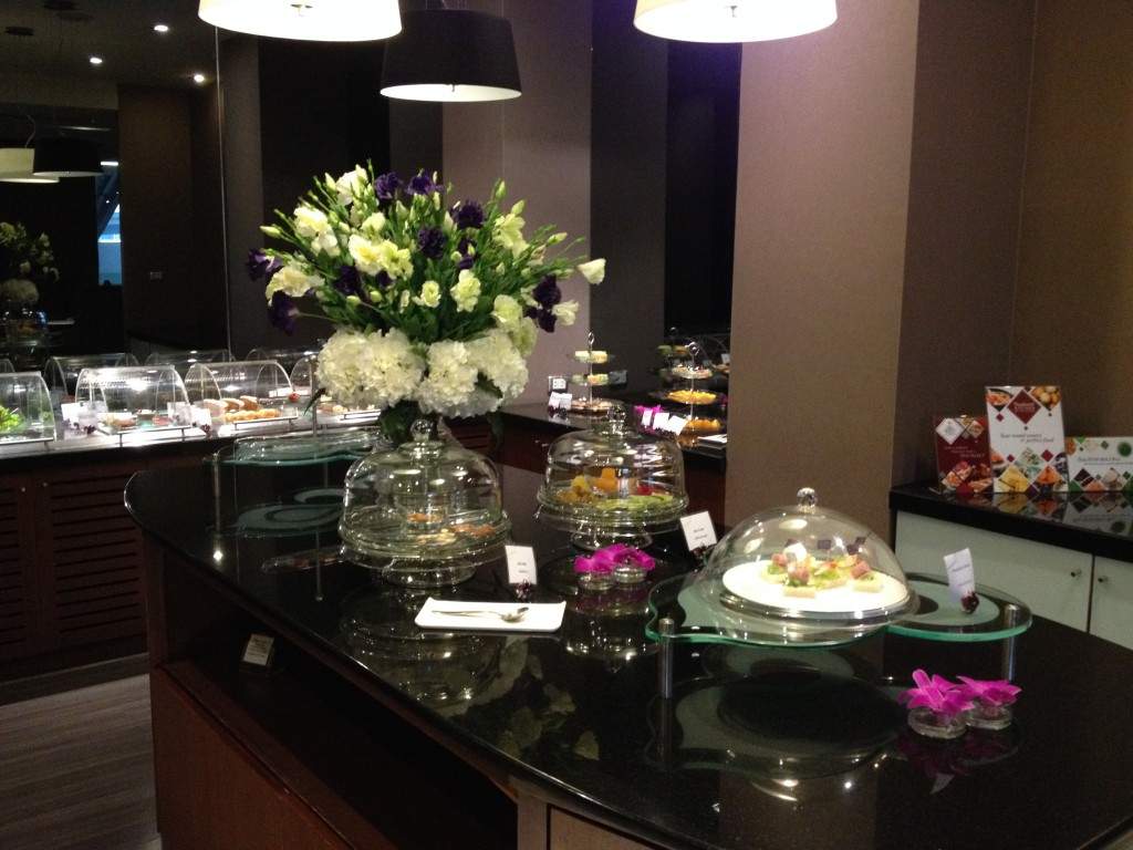 Thai Airways Royal First Class Lounge Dessert Buffet Station