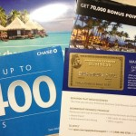 Targeted Offers: 75k Point Amex Gold, 70k Marriott Card, 3 Miles per $1 from US Airways & $400 from Chase