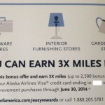 Targeted: 3X Miles at Home Improvement Stores with Alaska Airlines Visa Card