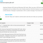 $0 Fees on American Express Gift Cards Through 5/11