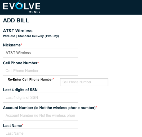 Evolve Money Bill Pay