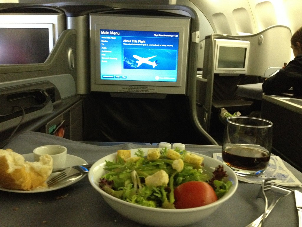 United Global First Class Meal SYD - SFO