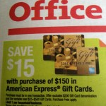 $15 Off American Express Gift Cards at Office Depot