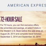 American Express Travel 72-Hour Labor Day Sale