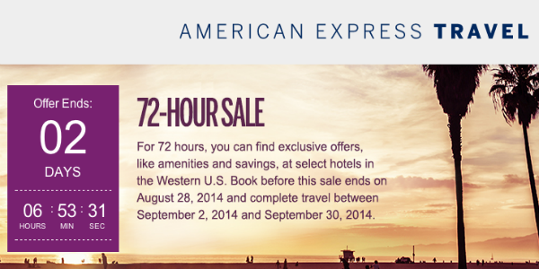 American Express 72-Hour Labor Day Sale