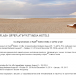 50% Off Hyatt Hotel Stays in India