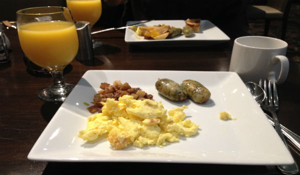 Breakfast at Eclipse - the best of what the buffet had to offer.