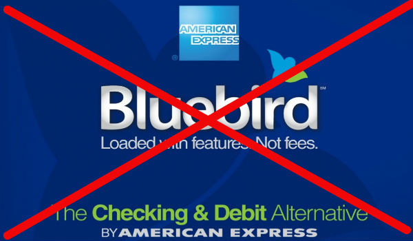 Amex Bluebird crossed out