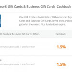 TopCashBack Offers 1.5% Cash Back on American Express Gift Cards!