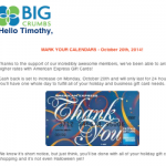Big Crumbs Increasing Cash Back on Amex Gift Cards