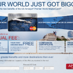 Targeted Offer: 50,000 Miles from the US Airways World Mastercard