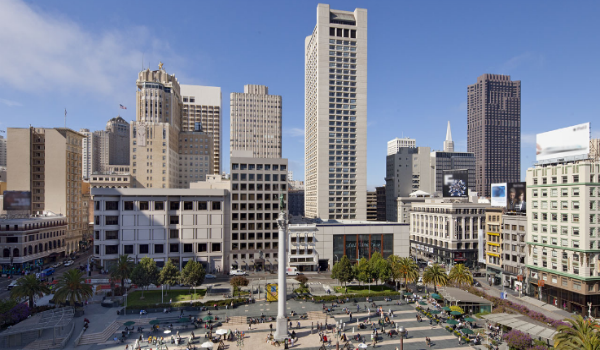 View from the Grand Hyatt San Francisco Source: Hotel website