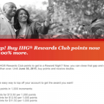 100% Bonus on IHG Rewards Club Point Purchases