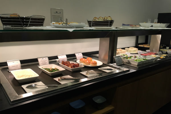 Cathay Pacific Lounge SFO Buffet
