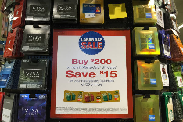 Visa gift cards at Safeway