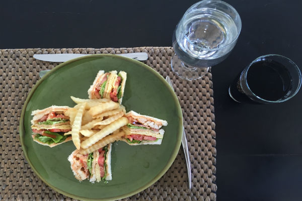 Sandwich for lunch on Day 1 at Villa Bulung Daya