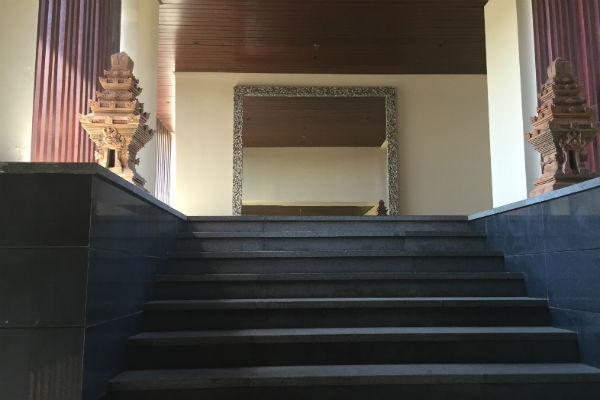The entrance to the Conrad Bali Penthouse Suite