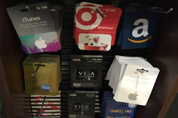 The Gift Card Rack at Safeway The Market