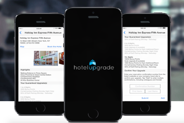 The HotelUpgrade app can get you free bonus points and room upgrades on your next hotel stay