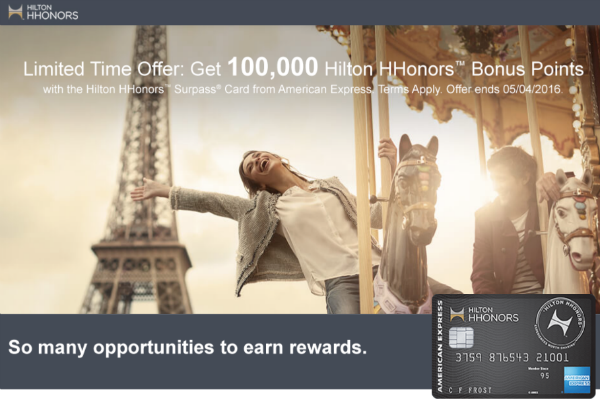 The 100,000 point sign-up bonus from the Hilton HHonors Surpass Card goes further than you might think