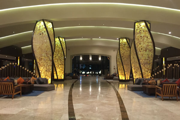 The gorgeous lobby at the Hyatt Ziva Los Cabos