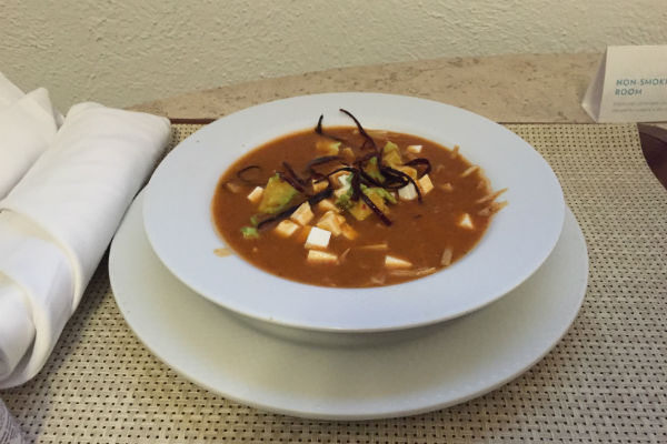 Chicken tortilla soup Hyatt Ziva Los Cabos