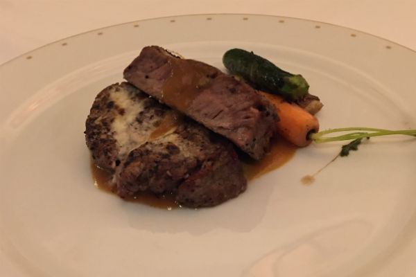 Filet mignon at Bon Vivant