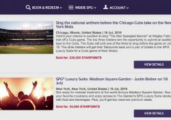 The winning bid of 230,500 Starpoints for an audition to sing the National Anthem at a Cubs vs. Mets game