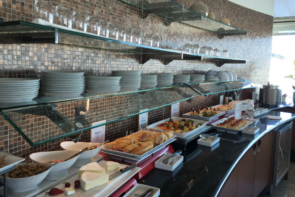 Food Spread at the Air France KLM Lounge SFO