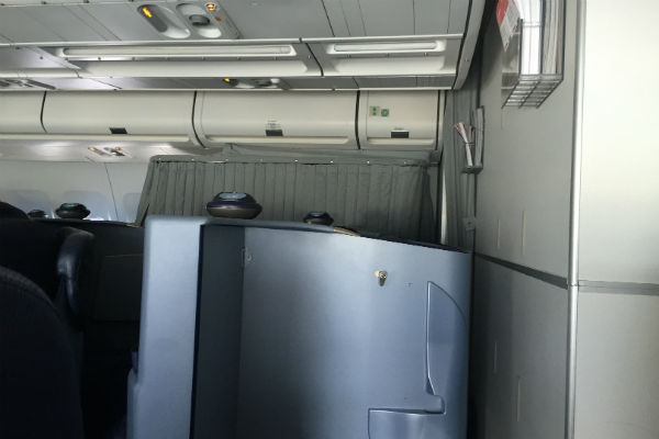 AirBerlin Business Class A330 Seat with Curtain SFO to DUS