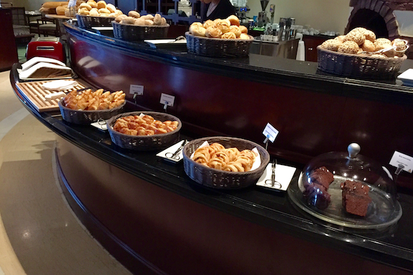Large bread selection at Hyatt Regency Thessaloniki's Ambrosia breakfast buffet