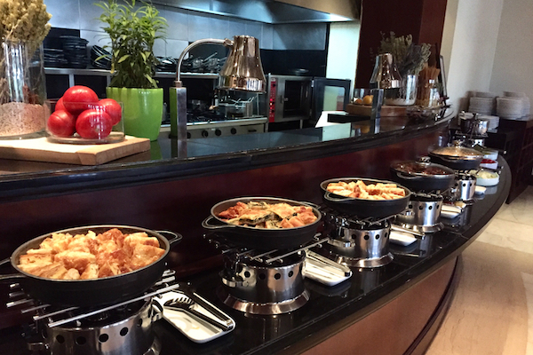 Hot Breakfast Buffet Items at Ambrosia Restaurant